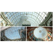 Dome Skylight com cobertura de alumínio Round Glass Roofing (Andy CW1601)
