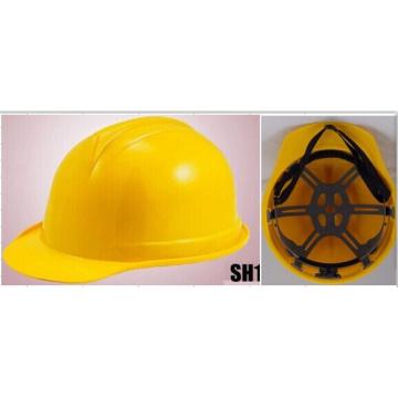 Casco de trabajo amarillo brillante para cosas de construcción