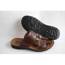 Пляжный сандалий с классическим стилем с эффектом кожаной кожи (SNB-14-003)