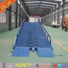Proveedor de la fábrica ce 6t Almacén rampa de carga móvil / elevación de rampa hidráulica ajustable para la venta