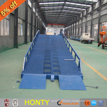 factory supplier ce 6t Warehouse mobile loading ramp / adjustable hydraulic ramp lift for sale