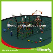 Fitness Cluster Series jolie conception de matériel de terrain de jeux extérieur LE.NT.003 pour parc d'attraction avec certificats