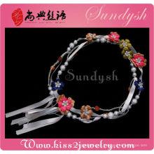 Atacado Tecido Flor Bead Jewelry Acessórios Handmade Belt