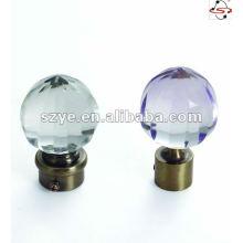 crystal finial Dia.0.748 inch drapery curtain rod