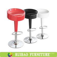 Modern Lift Adjustable Cheap Plastic Swivel Bar Stools with Footrest