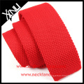China Product 2015 Fashion Chinese Neckties Rayon Knitted Red Tie Male