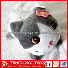 2014 New design lovely cat shaped plush phone holder custom