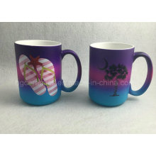 Tasse de couleur d'arc-en-ciel, tasse de jet de couleur de pluie de 15oz, tasse promotionnelle