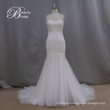 Bridal Mermaid Gowns with Appliques