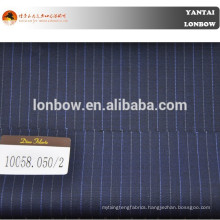 Worsted wool fabric alternate pin stripe color for casual wear