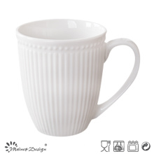 Stripe and Dots Embossed Ceramic Mug