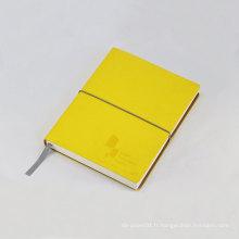 Cahier à couverture souple en cuir de 120 feuilles en cuir avec design classique