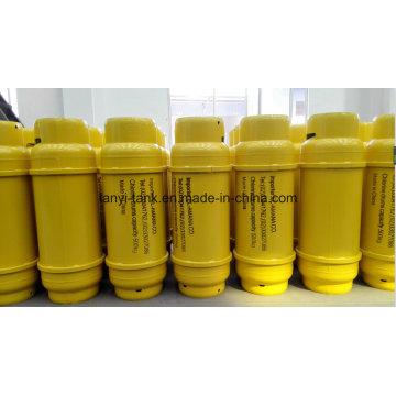 400L flüssiges Chlor Zylinder mit Flansch und Ventil