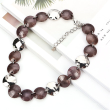 2020 old fashion beaded collar jewelry necklace for party gift Vintage acrylic chain necklace