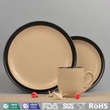Color Vajilla de cerámica esmaltada con platos