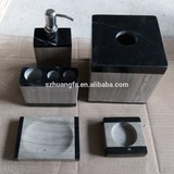 Black marble hand soap dispenser