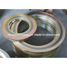 Спирально-навитое уплотнение с внутренним и наружным кольцом, уплотнительные прокладки