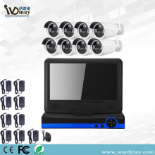 "8chs Wireless Wifi Camera Kit dengan 10.1 ""Screen"