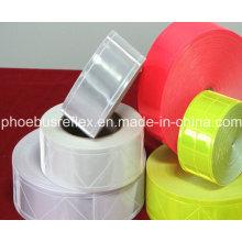Reflexstreifen, Reflexstreifen, reflektierende Stoffe. Reflektierendes PVC-Band