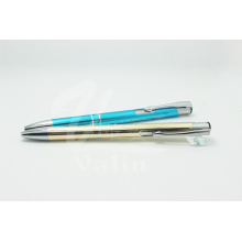 Promotion Aluminum Click Pen with Silver String