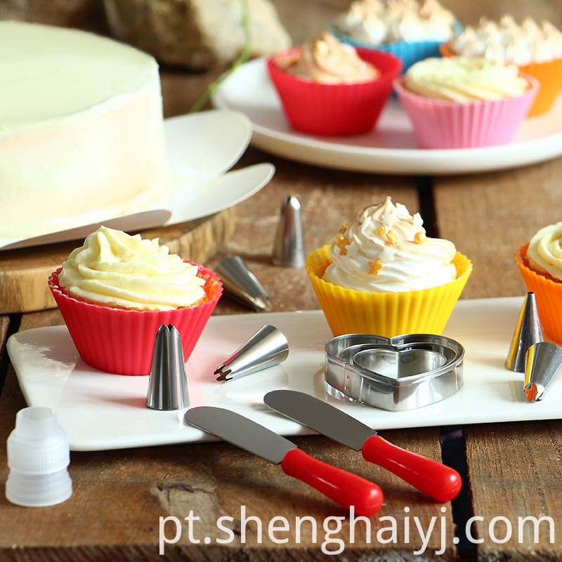 stainless steel kids cake decorating tool set