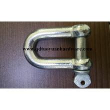 Grillete D de acero al carbono Heavy Duty JIS para accesorios de rigging