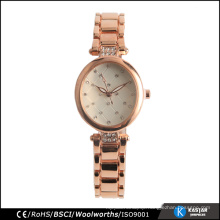 diamond quartz ladies new design watch fashion iprg plating rose gold color