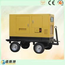 Conjunto elétrico de geração de energia elétrica de reboque com insonorização