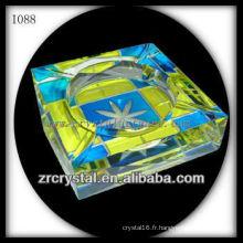 Cendrier en cristal coloré