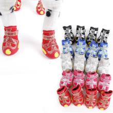 Doglemi Heißer Verkauf Wasserdicht Anti-Rutsch-Winter Schnee Pet Stiefel Polyester Hund warme Schuhe