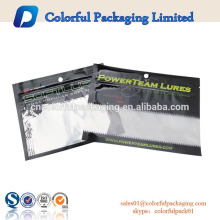 laminated customized plastic moisture proof ziplock soft fishing lure bait packaging euro hole