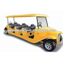 Certificado CE Vehículo clásico eléctrico Carro demoledor de carro de golf de 8 plazas para clubes, hoteles de parques