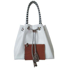 2014 Contrast Front-Pocket Casual Lady Handtasche (ly0024)