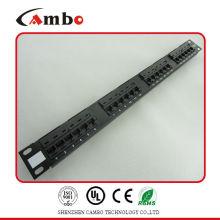 China Fabricante UTP 19 pulgadas rj45 patch panel cat5e patch panel Conozca T568A / B Estándares