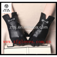 leather bow cuff dress leather sex gloves