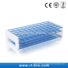 Tubos de prueba de plástico Rongtaibio Rack Dia.18 * 50hole