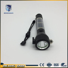 rechargeable multifunctional security flashlight