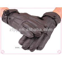 Men brown deerskin glove for driving
