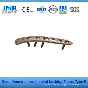Distale Humerus seitliche hintere Verriegelungsplatte LCP Platte