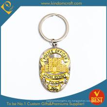 Llavero personalizado del metal del recuerdo de la aleación del cinc del oficial de policía 3D (LN-066)