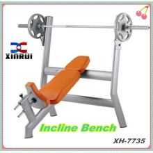 Incline Bench / free weight lifting bench / Strength gym equipment