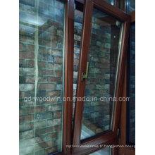 Fenêtre en verre tempéré double en bois massif de qualité supérieure