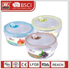 Recipiente de alimento de vidro microwavable frescura