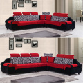 Fabric L-Shaped Chaise Cushion Seat Sectional Sofa