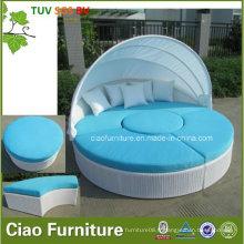 Revers de soleil en osier de piscine de rotin de meubles extérieurs de loisirs avec l'auvent (CF938L)