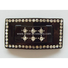 Rectangular Acrylic Rhinestone Buckle, Acrylic Dress Buckle