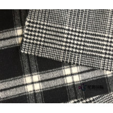 Fashion Houndstooth Mönster Ren Ull Material