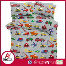 Kids bedding wholesale , printed cotton kids duvet cover set custom