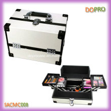 Vanidad blanco caja de cuero PU caja de maquillaje con buen precio (sasc0000)