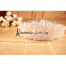Свадебные жемчужные бусины Глава ювелирные изделия свадебные аксессуары для волос Леди металлической цепью волосы застежка